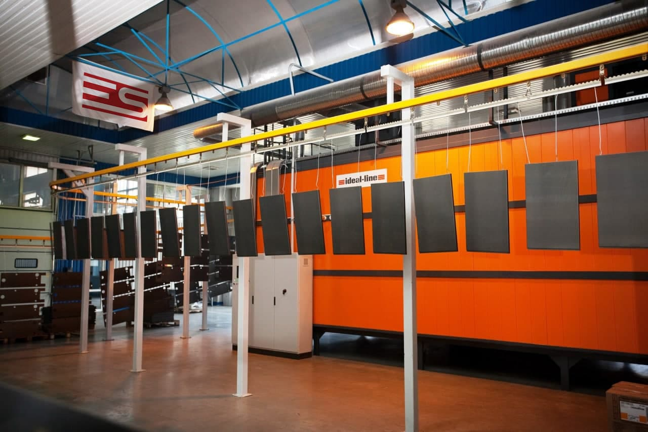 Launch of the line of automatic application of polymeric coatings